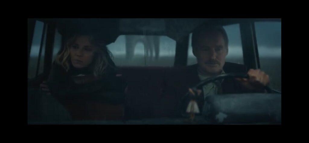 sylvie & mobius in car